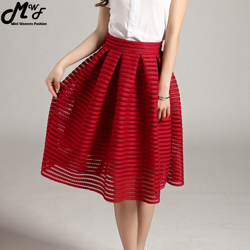 Cool Fashion Summer Women Tulle Chiffon Skirt Women39s Pleated Maxi Skirts