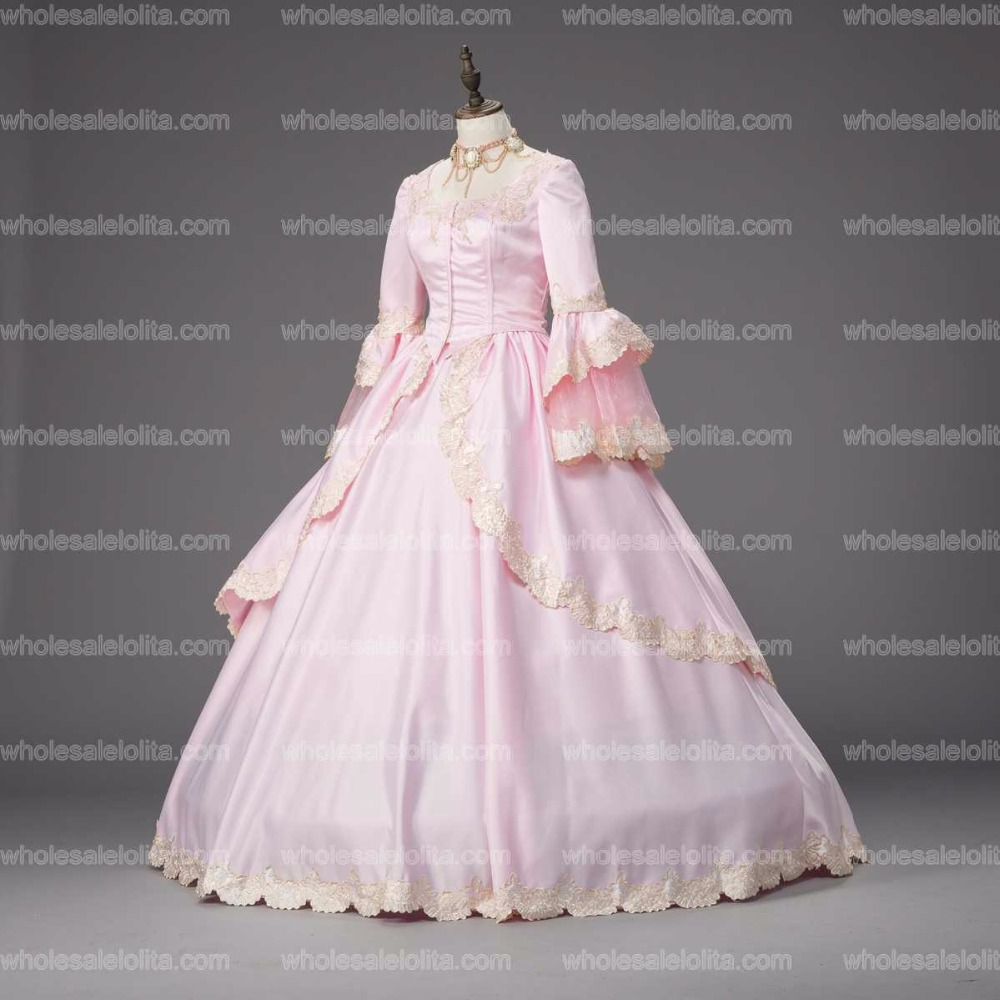 Georgian Pink Marie Antoinette Ball Gown Renaissance Holiday Dress Theater  Clothing b157764c8ea9