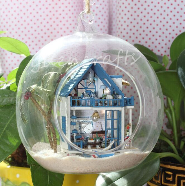 Fairy Garden Glass Terrarium With Led Lamp Glass Terrarium With