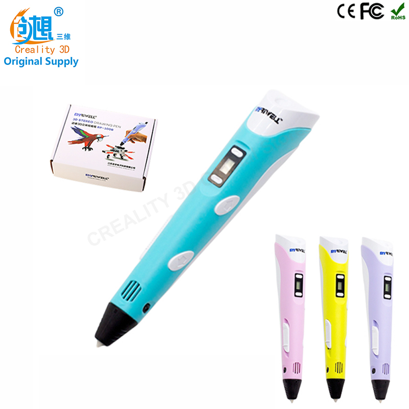 CREALITY 3D Printing Pen 1.75mm ABS/PLA 3D Pen 4 Colors Available for Kids Drawing with 10 Meters 3D Printer Filament as gift creality 3d printing pen 1 75mm abs pla 3d pen 4 colors available for kids drawing with 10 meters 3d printer filament as gift