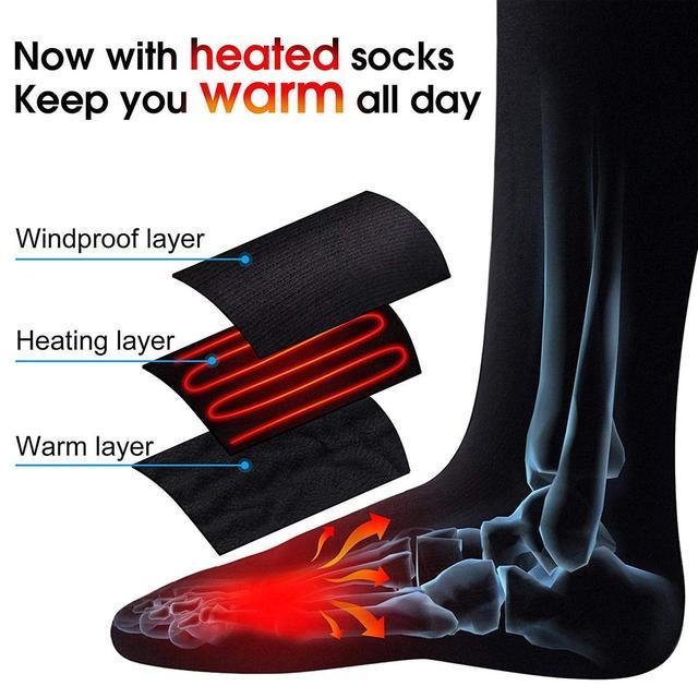 Warmski Unisex Thermal Cotton Heated Socks 4