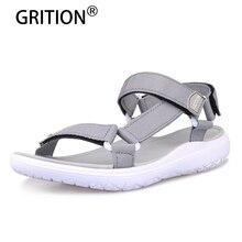 GRITION נשים סנדלי אופנה קיץ קל משקל חוף פלטפורמת נעלי הליכה מזדמנים נוח כחול אפור ירוק חדש