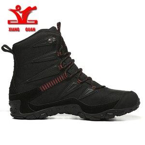 Image 3 - 2018 novo inverno dos homens ao ar livre sapatos de desporto anti deslizamento sapatos de algodão forro caminhadas sapatos para homens quentes sapatos de trekking mulher