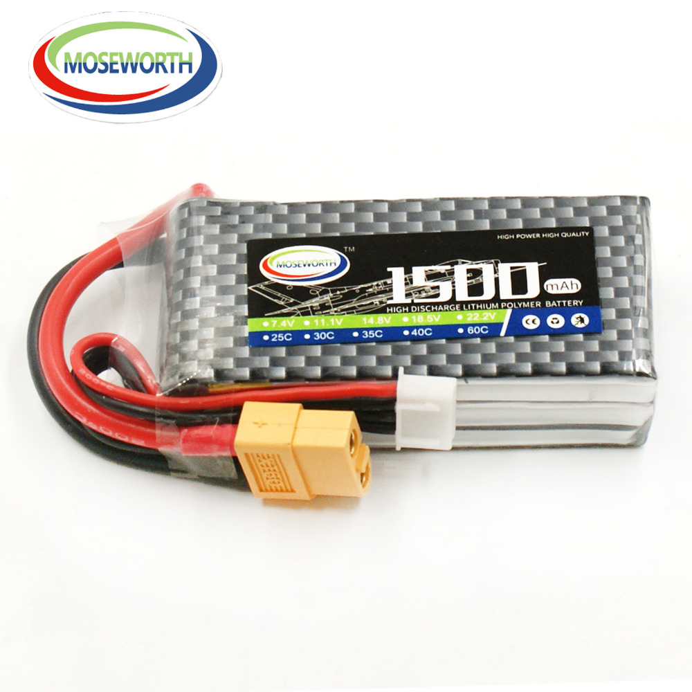 MOSEWORTH 3S 11.1V 1500mah 25C RC LiPo Battery for Helicopter Quadrotor Airplane Drone Car Li-ion Cell mos rc airplane lipo battery 3s 11 1v 5200mah 40c for quadrotor rc boat rc car