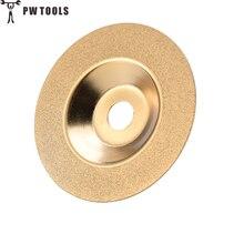 PW Инструменты 100 мм золото алмаз Титан шлифовальный круг для полировки дисковые колодки шлифовальный станок чашки угол шлифовальный станок инструмент шлифовальный камень стекло