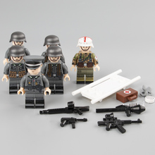 6PCS Weltkrieg 2 German Medic Parts Soldiers Building Blocks Military weapons figure Accessories building blocks toys for Gift