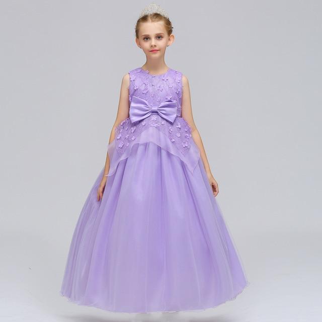 Robe Fille Enfant Mariage De Soiree Kid Formal Dress Girls Lavender