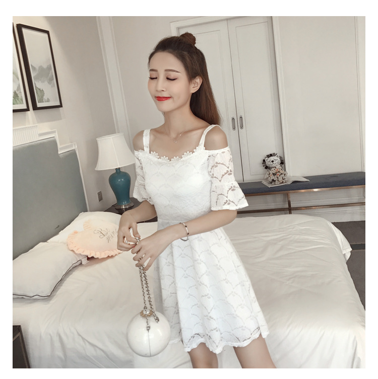 18 New fashion women summer lace sexy dress white Korean style clothes for womens vestido de festa mini white clothings 6