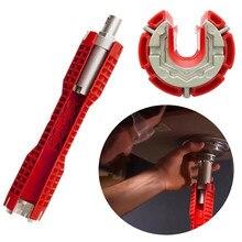 Хо кран установщик раковины двойная головка сервисный ключ для смесителя гаечный ключ Противоскользящий Ванная комната Многофункциональный Lavabo напольный водный ключ раковина Spann