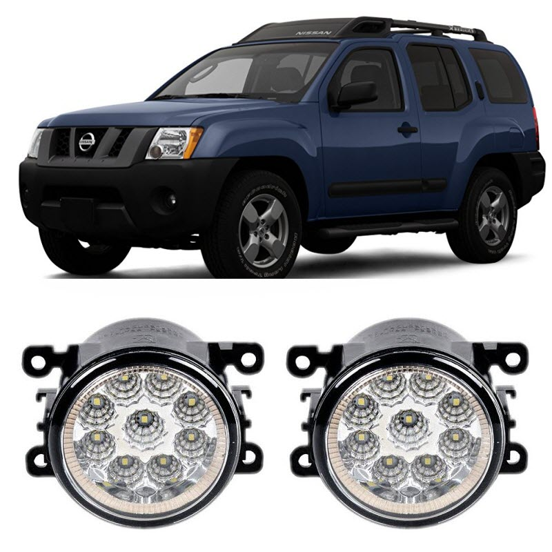Car Styling For Nissan Xterra 2005-2015 9-Pieces Led Fog Lights H11 H8 12V 55W Fog Head Lamp for opel astra h gtc 2005 15 h11 wiring harness sockets wire connector switch 2 fog lights drl front bumper 5d lens led lamp