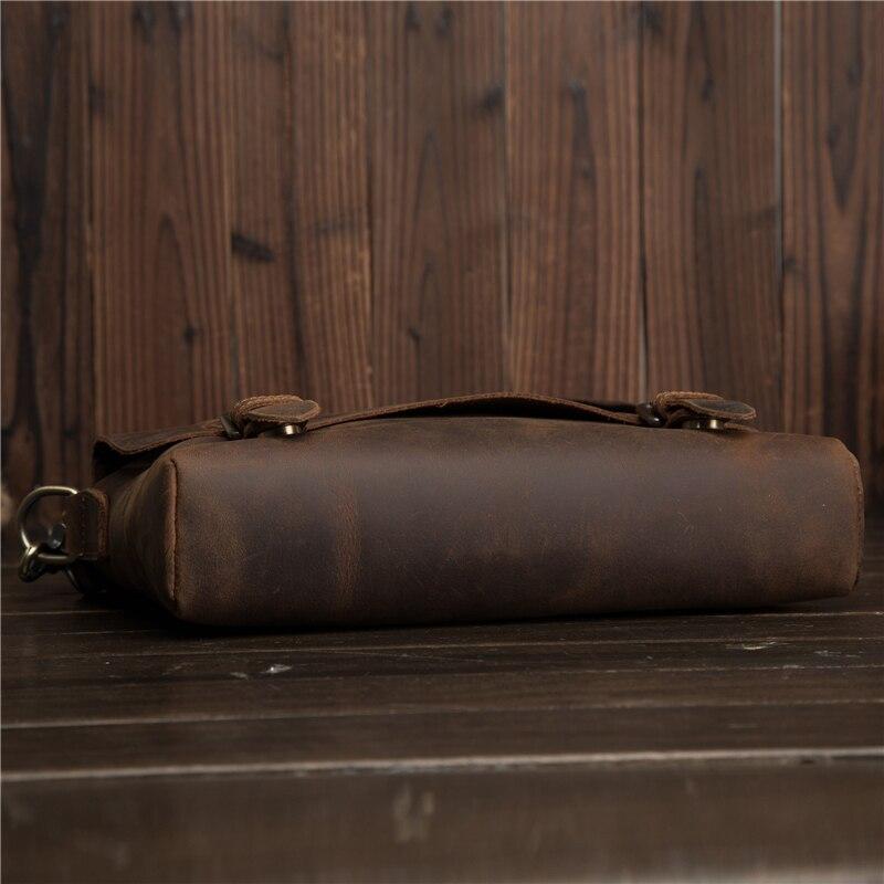 Мужские портфели из натуральной кожи Crazy Horse, сумка через плечо, Ретро стиль, мужская сумка, деловая, дорожная, подарок, Blosa Mochil - 6