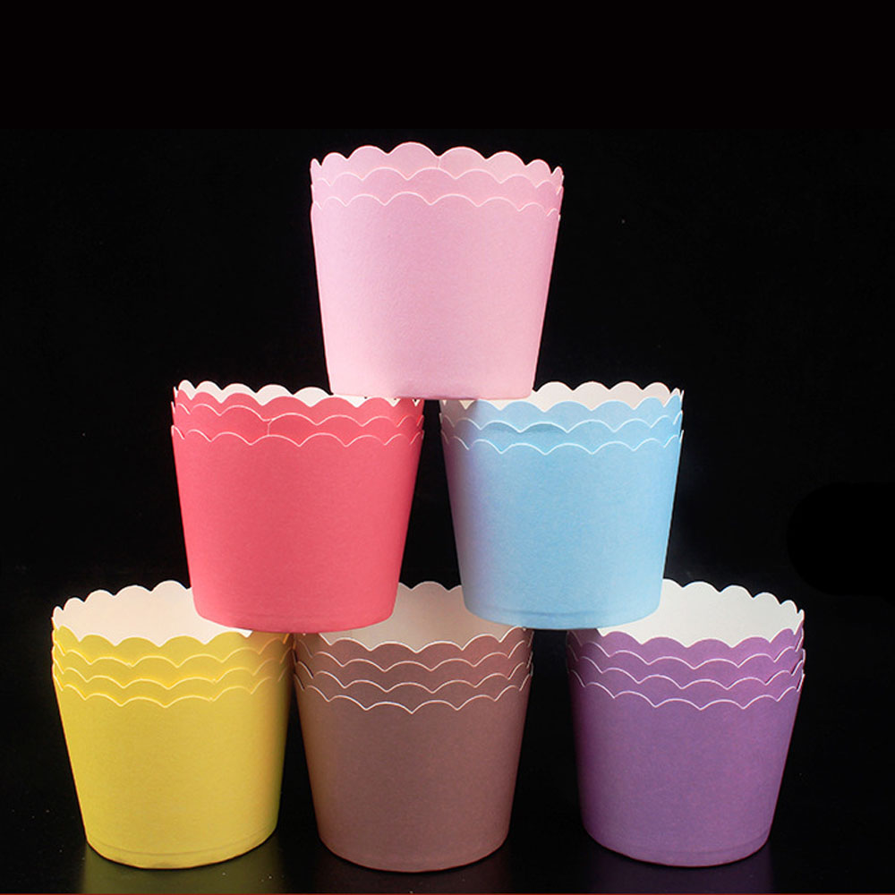 12/50PC Muffin Cupcake Paper Cups Cake Forms Cupcake Liner Baking Muffin Box Cup Case Party Tray Cake Mold Party Decorating Tool