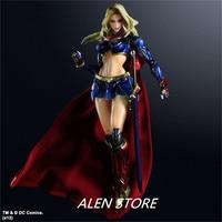 ALEN Play Arts KAI DC COMICS NO.7 SUPERGIRL PVC Action Figure Collectible Models Toys 28cm