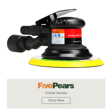 Pneumatic Tools Variable Speed Orbital Sander Machine 6Inch 152MM Pad 1/4Inch Air Inlet Can Handle A Large Workload FIVEPEARS