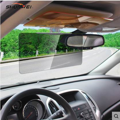 HD Vision Visor Day & Night Visor Easy View HD HD Night Night Vision Flip Down Visor Easy Sun Glare Block View UV როგორც ჩანს ტელევიზორში