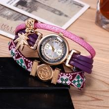 New Fashion Antique Bracelet Watches Women Leather Dress Wrist watches Womens Quartz Watch Ladies Clock orologio donna