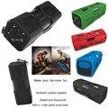 Mais barato Bluetooth Speaker Ao Ar Livre, portátil Bluetooth 4.0 2*3 W Subwoofer Bass Som Speaker À Prova de Choque À Prova de Poeira 2 em 1