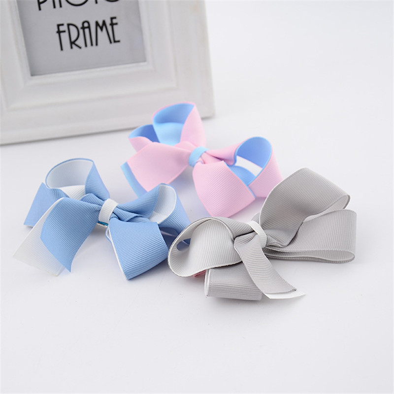 YWHUANSE 3pcs/lot Bowknot Girls Hair Clips Cute Hair Accessories Barrette Clips On Hair Satin Ribbons Hairpins Princess Headdres new arrival baby cute 30pcs lot wholesale hair clips glitter animals butterfly felt hairpins high quality baby princess clips