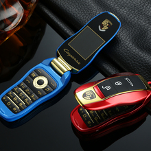 Разблокировать Newmind F15 мини форма ключа автомобиля студент Флип Мобильный телефон end игрушка F368 Dual Sim Русский Иврит Клавиатура