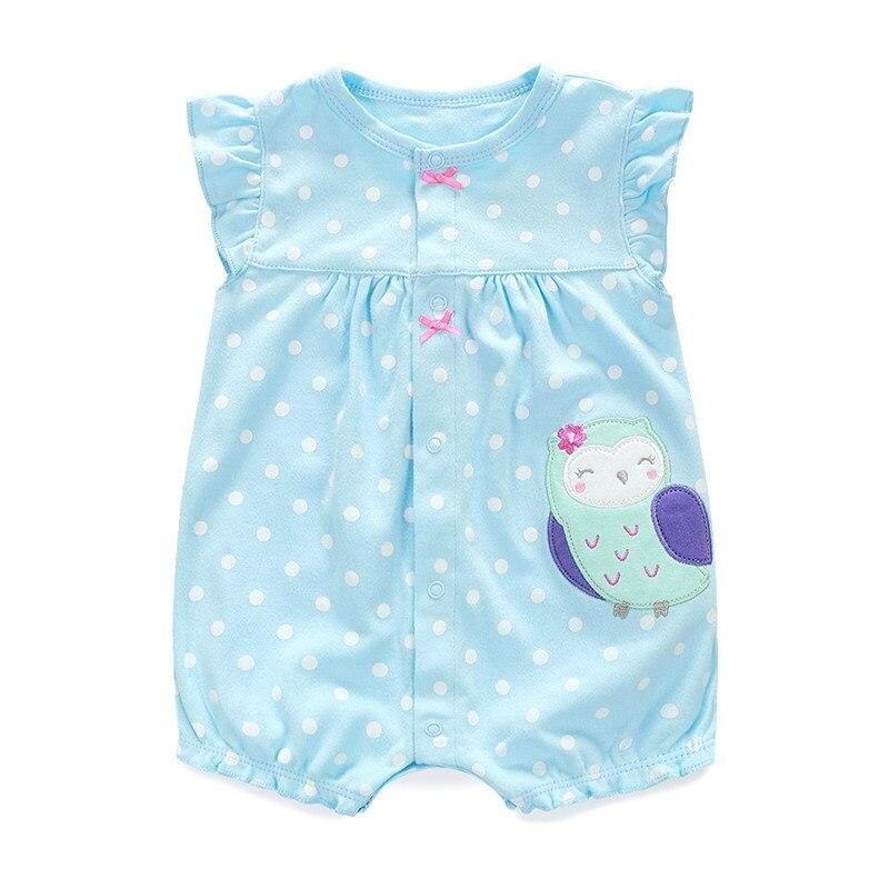 Cotton Baby Rompers Summer Baby Girl Clothes Cartoon Noworodek - Odzież dla niemowląt - Zdjęcie 5