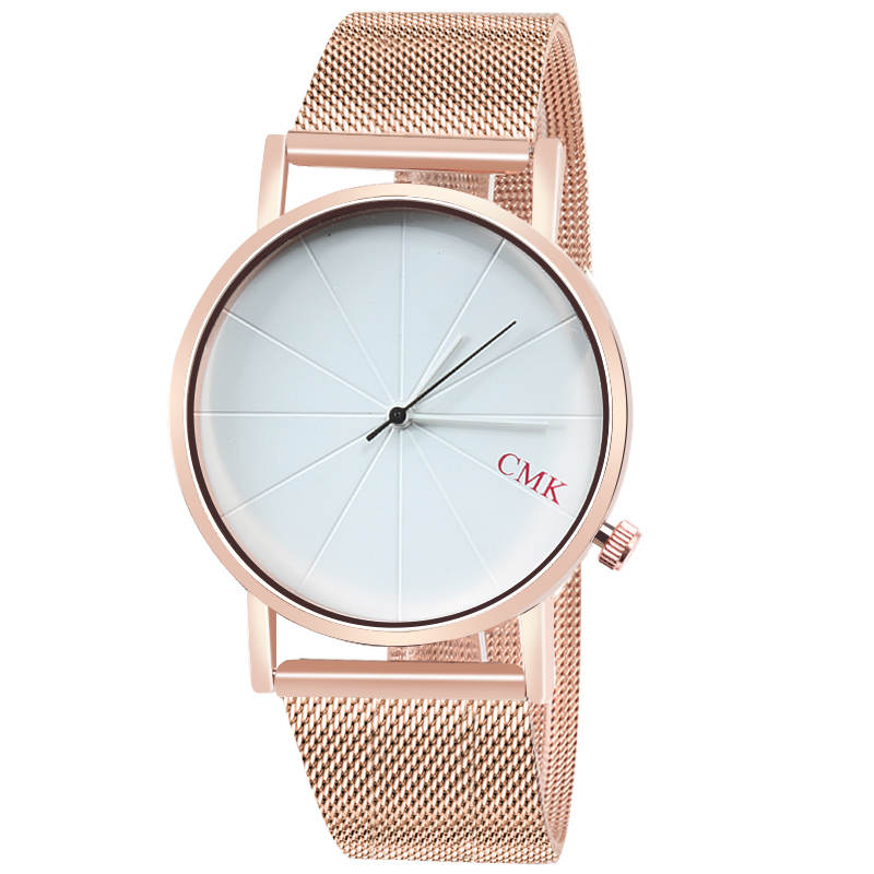 CMK Fashion Silver Gold Mesh Strap Men Wristwatch Simple Quartz Women Ladies Watches Gift Luxury Casual Male Watch Clock Relogio