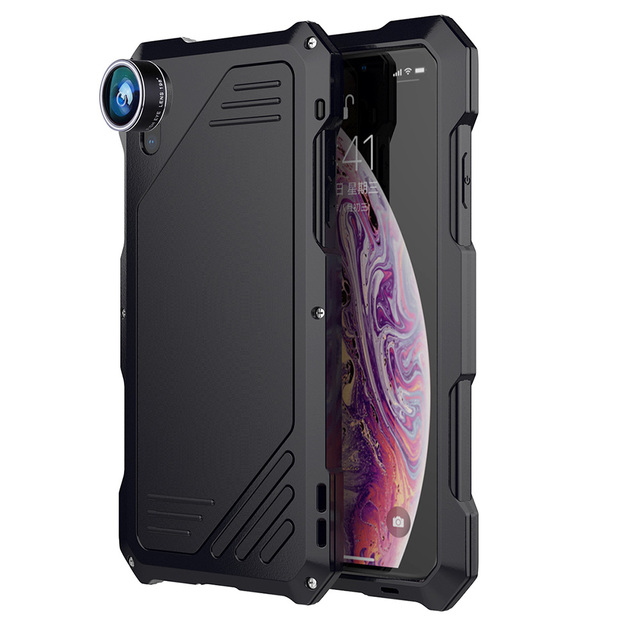 Ascromy For Iphone Xs Max Case Fisheye Camera Lens Shockproof Cover