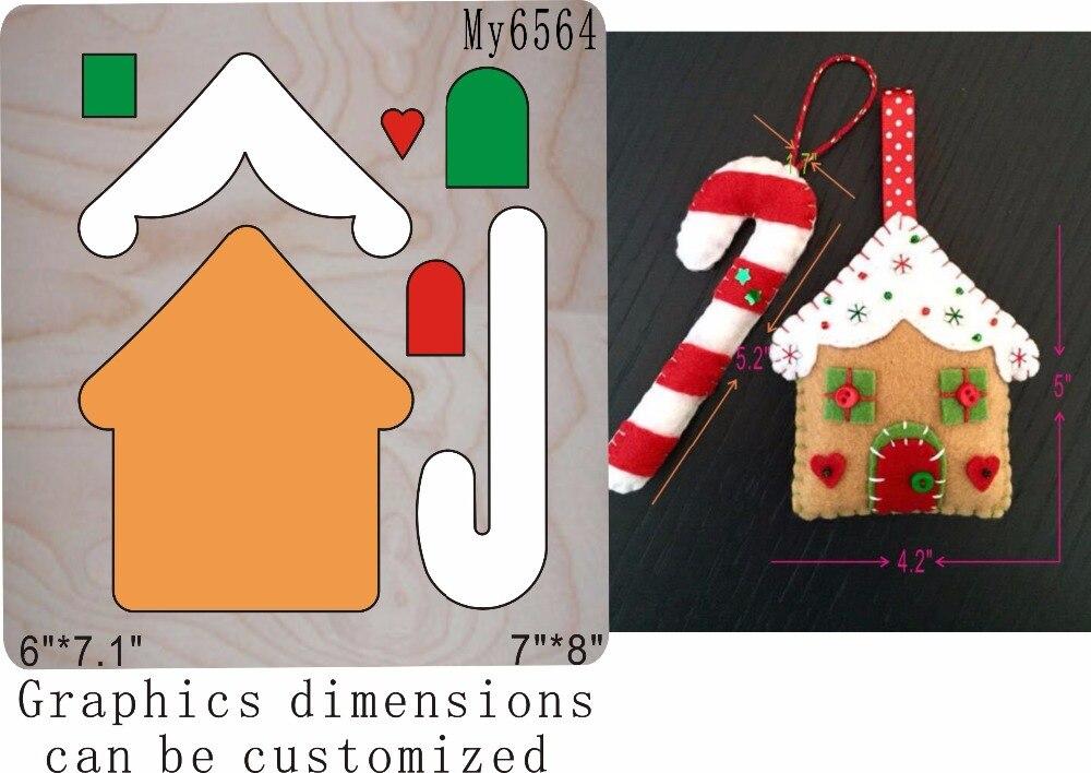 Christmas House die cutting Wooden dies fit Scrabooking