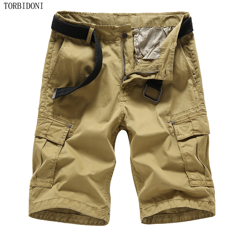New Summer Cargo Shorts Mens Casual Fashion Multi Pocket Loose Mens Military Outdoors Short Trousers Plus Size Fitness Clothing