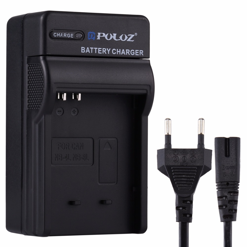 все цены на PULUZ EU Plug Battery Charger with Cable for Canon NB-4L / NB-8L, IXUS 115 HS, IXUS 220 HS, IXUS 230 HS Battery онлайн