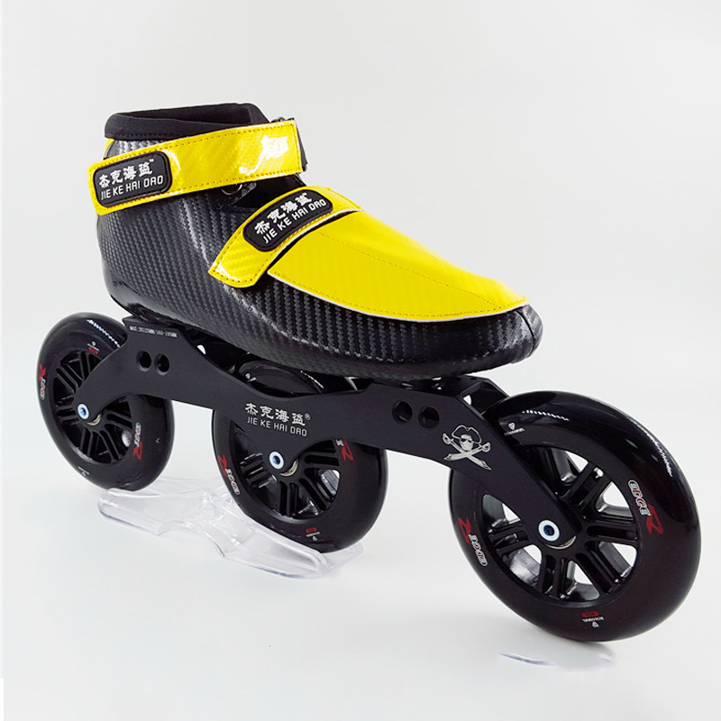 Professional speed skates shoes adult/child  big wheel inline skate roller skate with 3x125 frame install 125mm wheel children roller sneaker with one wheel led lighted flashing roller skates kids boy girl shoes zapatillas con ruedas