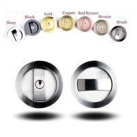 Sliding Door Lock set Kit 35 50mm Door Thickness Hook Lock Pocket door Round