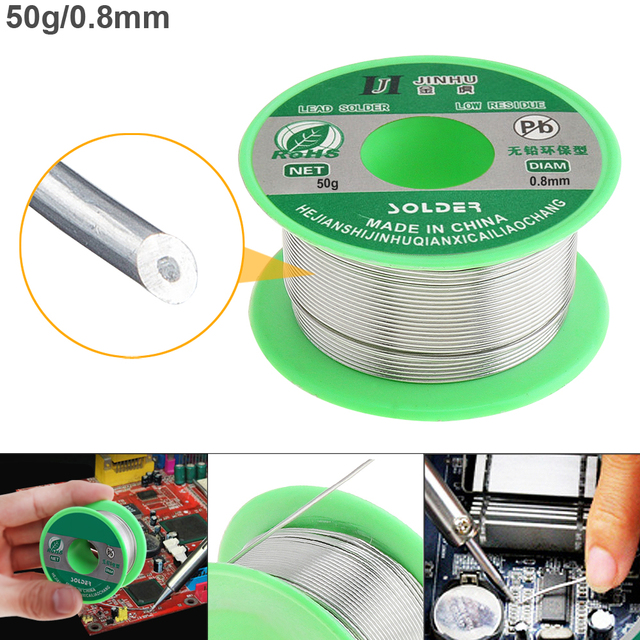 0.5/0.6/0.8mm 50g 99.7% Sn 0.3% Cu Lead-free Rosin Core Solder Wire with Flux and Low Melting Point for Electric Soldering Iron