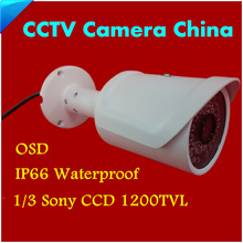 2017 New CCTV Camera 1/3 Sony CCD 1200TVL HD IR MINI Camera Indoor / Outdoor Waterproof with 36 LEDS IR Distance 50M