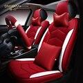 Tampa de Assento Do Carro Para Porsche Cayenne SUV Styling 6D 911 Cayman Panamera Macan, Alta-fibra de Couro, Carro-cobre