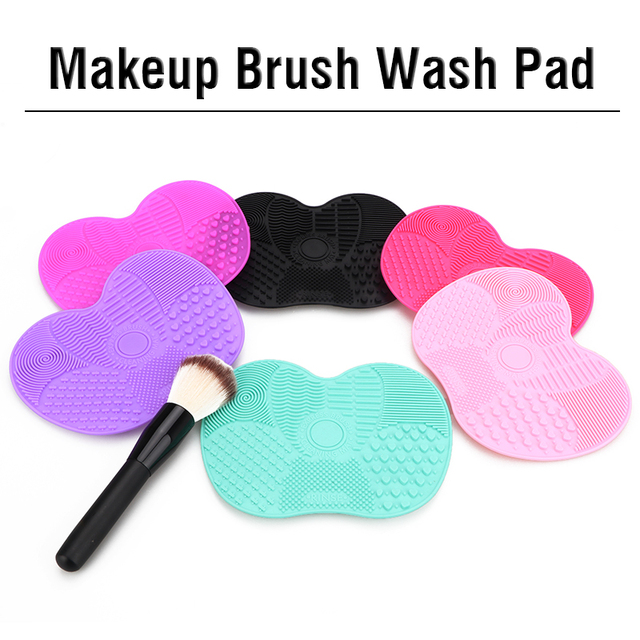 Silicone Makeup Brush Cleaner Mat Washing Tools Cosmetic Make up Eyebrow Brushes Cleaning Pad Scrubber Board Makeup Cleaner Tool 2