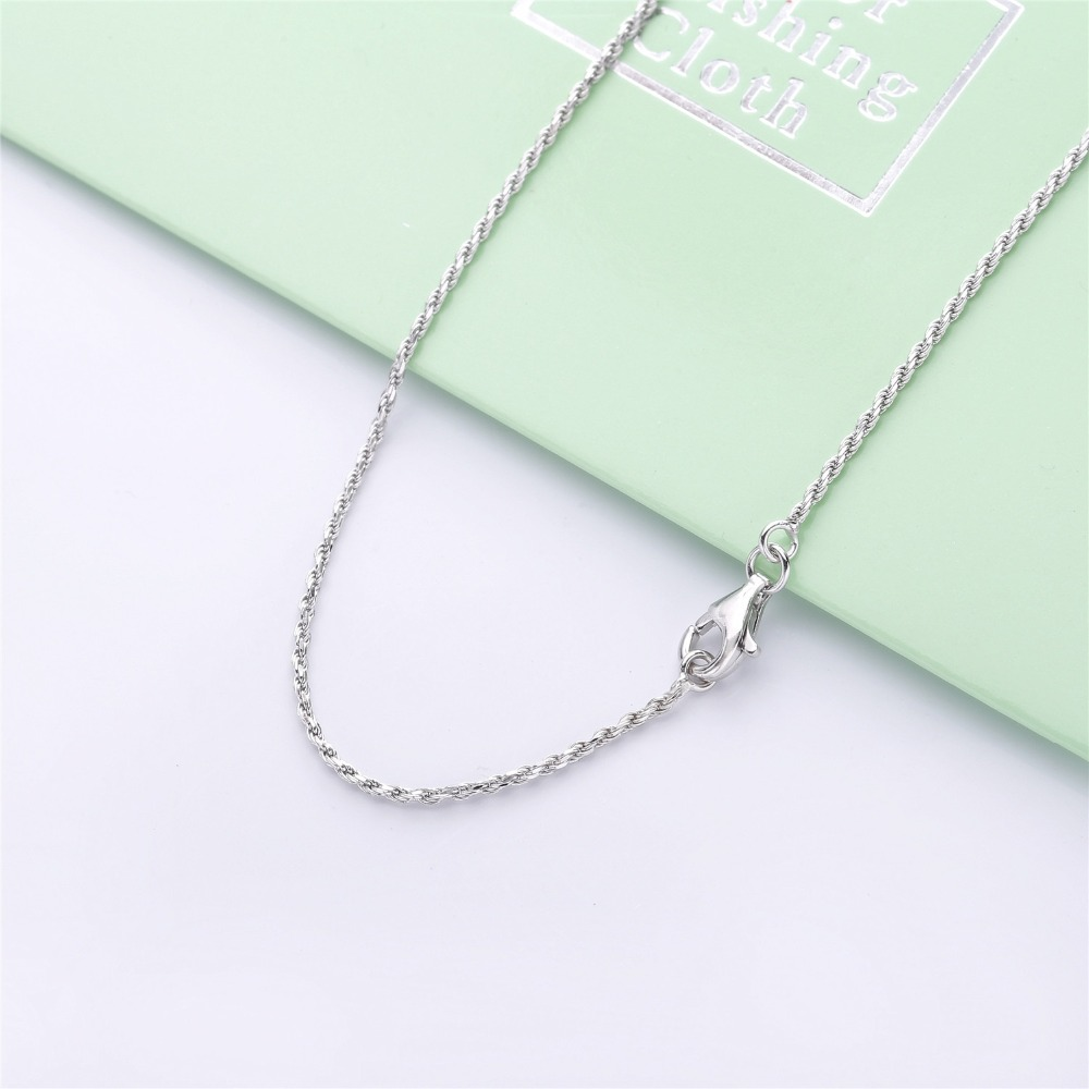 Image 5 - Slovecabin Hole Cross Double D Letter Chain Belle Epoque Zircon  Pendant Necklace Jewelry 100% 925 Sterling Silver Italy LuxulryChain  Necklaces