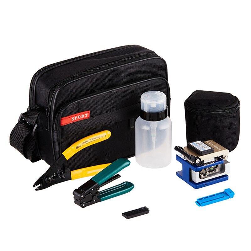 DEBAOFU Ferramenta 7 em 1 FTTH de fibra óptica da Tala De Fibra Óptica kits de ferramentas de Fibra de stripper + fiber cleaver e ferramentas saco Kit