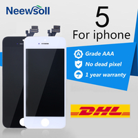 10PCS LOT LCD Pantalla For IPhone 5 LCD Display Touch Screen Digitizer Assembly Ecran Replacement Free