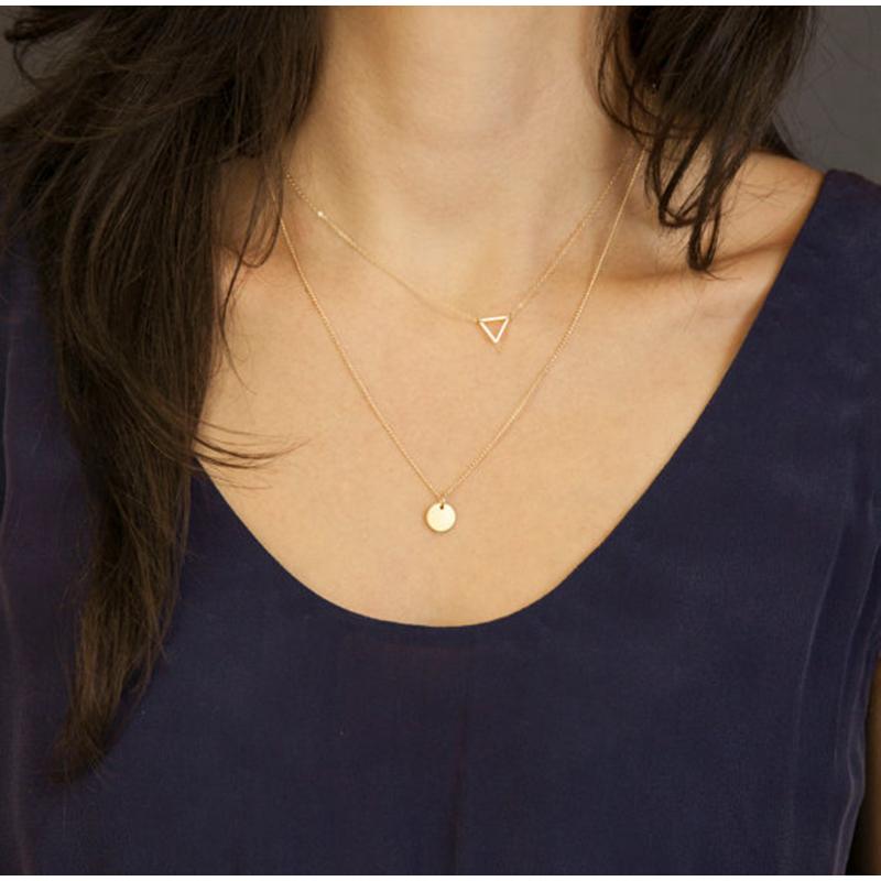 Nouvelle-d-claration-collier-Argent-et-or-Collier-Double-Couches-Charmes-Disque-triangle-Pendentif-collier-Pour.jpg_640x640