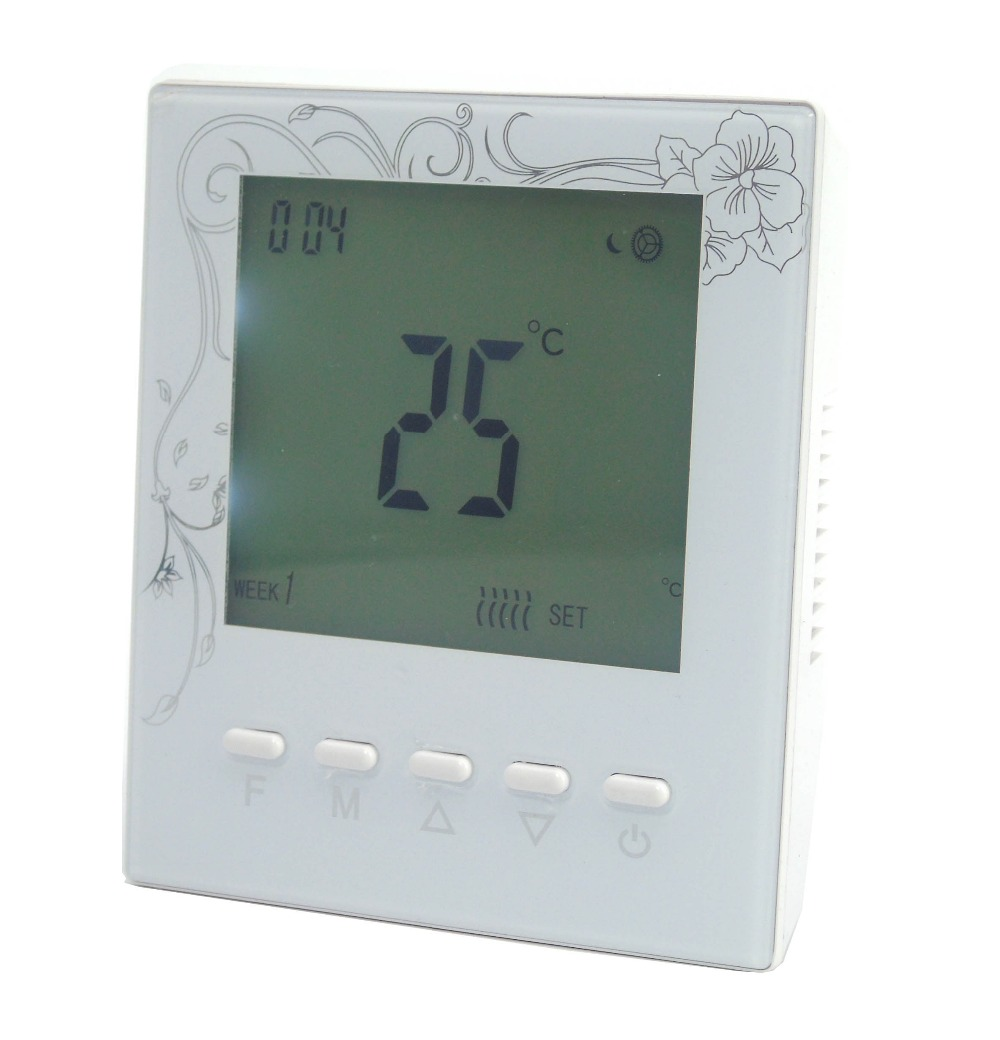 Battery powered Digital programmable gas boiler thermostat controller with Warm system radio frequency control wireless boiler thermostat temperature controller