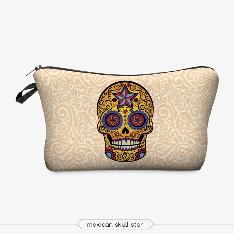 Jom Tokoy 3D Printing Makeup Bags With Multicolor Pattern Cute Cosmetics Pouchs For Travel Ladies Pouch Women Cosmetic Bag 7