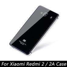 Для Xiaomi Редми 2 Случай Роскошные Металл Алюминиевая Рама + закаленное Стекло Задней Стороны Обложки Для Xiaomi Редми 2А Телефон Batterr случаях