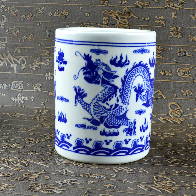 porcelain modern fashion blue and white porcelain pen holder home decorations living room Decoration 125x100mm netac u188 blue and white porcelain pattern usb 2 0 flash drive white blue 4gb
