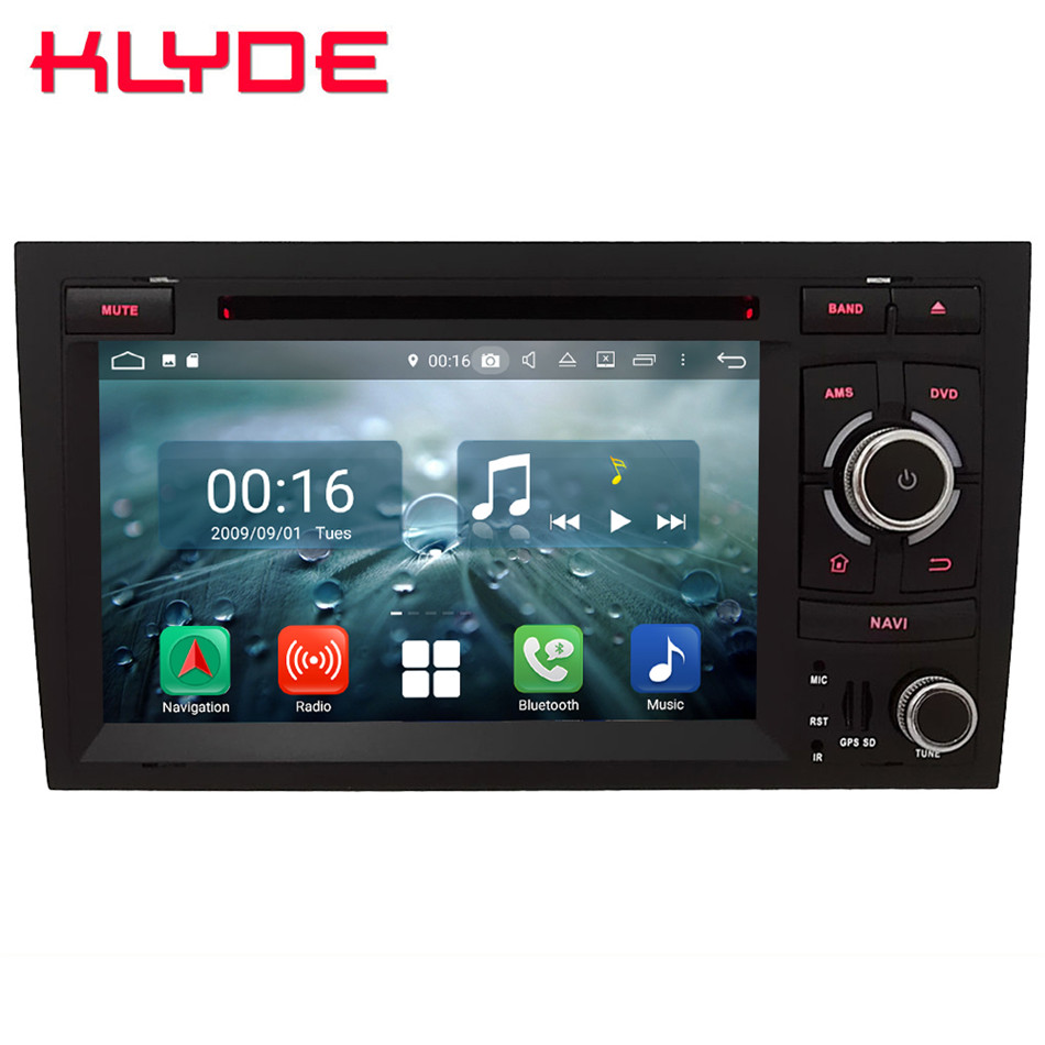 "7"" Octa Core 4G Android 8.1 4GB RAM 64GB ROM RDS BT Car DVD Multimedia Player Radio Stereo For Audi A4 S4 RS4 8E 8F B9 B7 RNS-E"