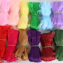Wrapping-Packing Ribbons Organza-Tape Roll Gift 20yard/Lot 10mm Tulle DIY Solid-Color