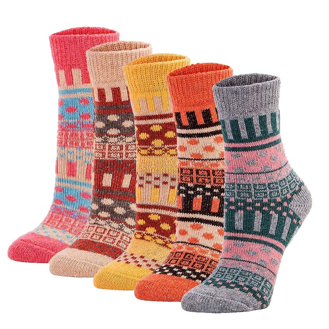Bohemian Knit Wool Socks Mawgie