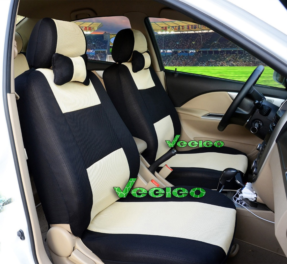 Veeleo Front Rear Universal Car Seat Covers For Hyundai