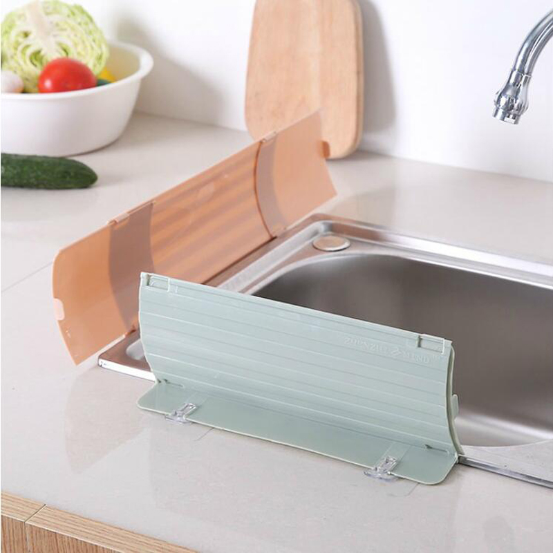050 Kitchen Sink Splash Water Impermeable Retaining Plate Splatter Screen Water Wash Basin Kitchen Rack Tools in Other Kitchen Specialty Tools from Home Garden