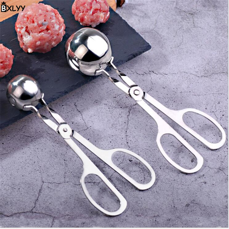 BXLYY 2019 Stainless Steel <font><b>Meatball</b></font> <font><b>Maker</b></font> Big Small Size Food Clip <font><b>Meatballs</b></font> <font><b>Maker</b></font> Kitchen Tools Cuisine Outils Accessoires.8z image