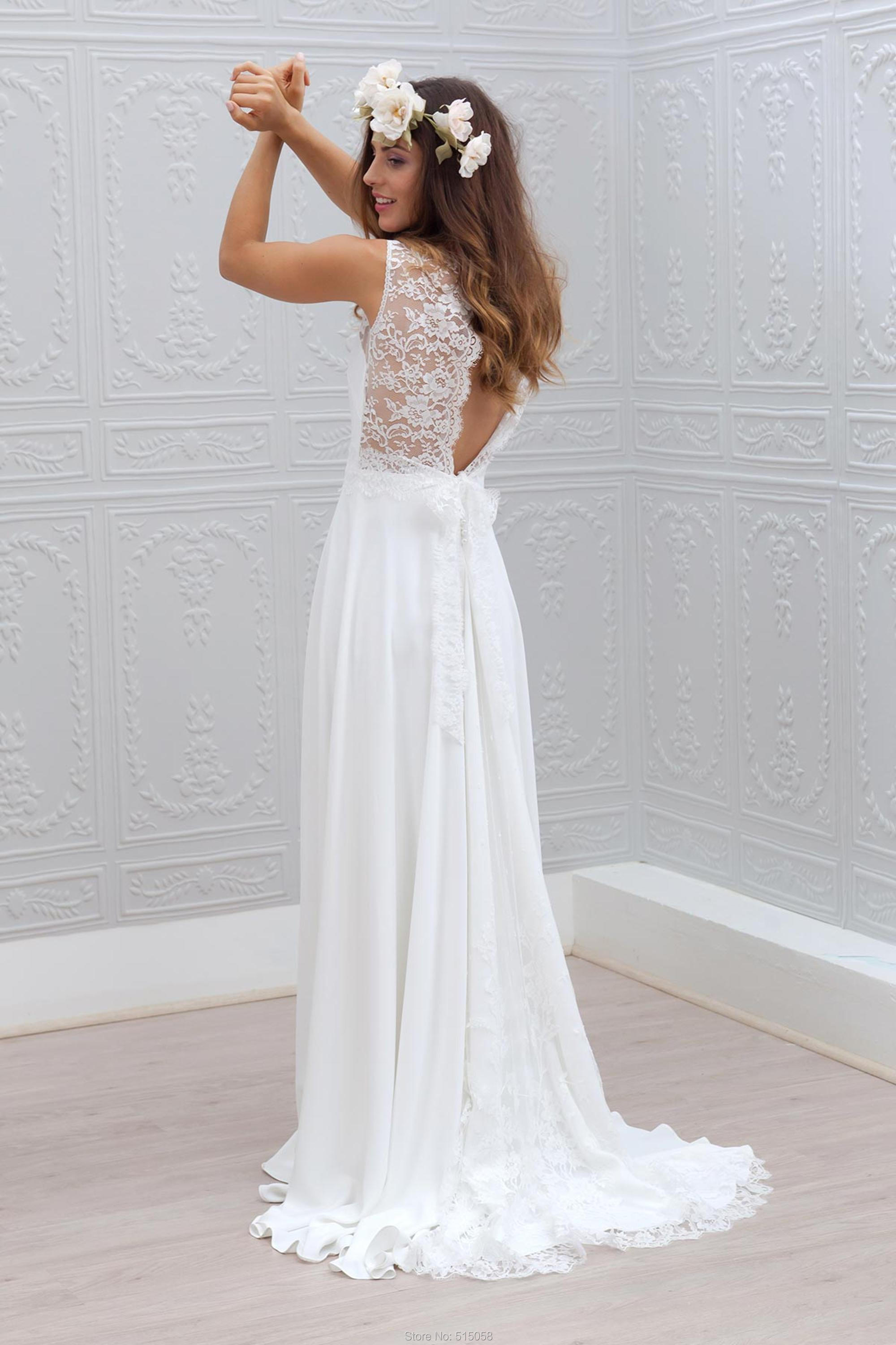 Rustic wedding dresses 2017 sexy backless long lace for Aliexpress wedding dresses 2017